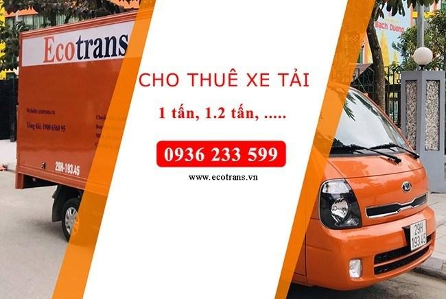 Cho thuê xe tải của Ecotrans