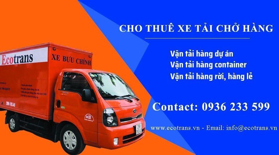 Cho thuê xe tải đa dạng hàng hóa được vận chuyển